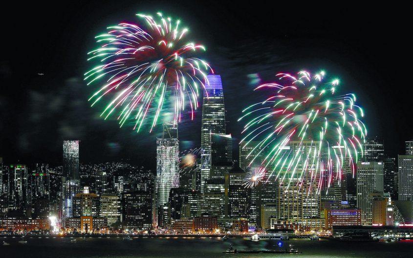 חגיגות השנה האזרחית החדשה בסאן פרנסיסקו. צילום: Jeff Chiu אי־פי