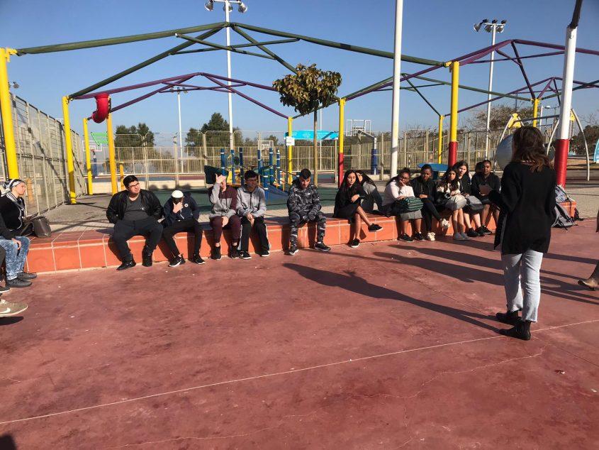 תלמידי מקיף י' בפעילות בפארק הנגיש באדיבות: עיריית אשדוד