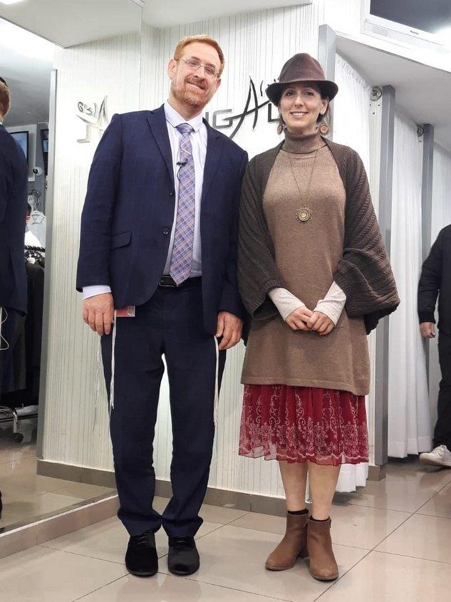 חבר כנסת יהודה גליק ואישתו הדס. צילום: דן פונכץ
