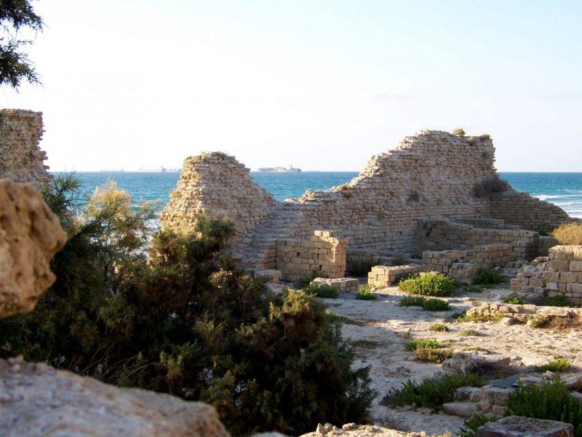 מצודת אשדוד שקיעה צילום: יעקב יופנט