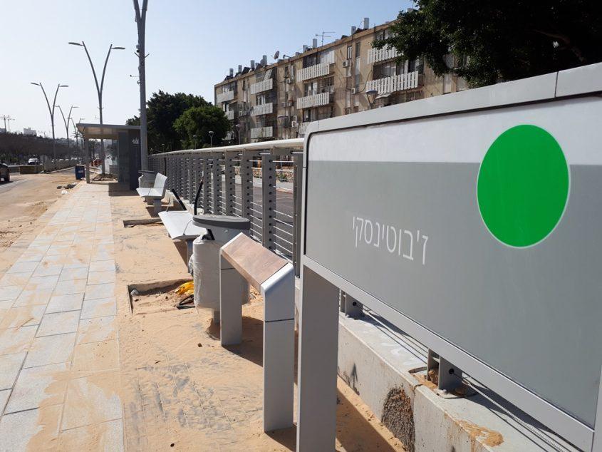 צומת הרצל ז'בוטינסקי בסוף השבוע. צילום: דור גפני