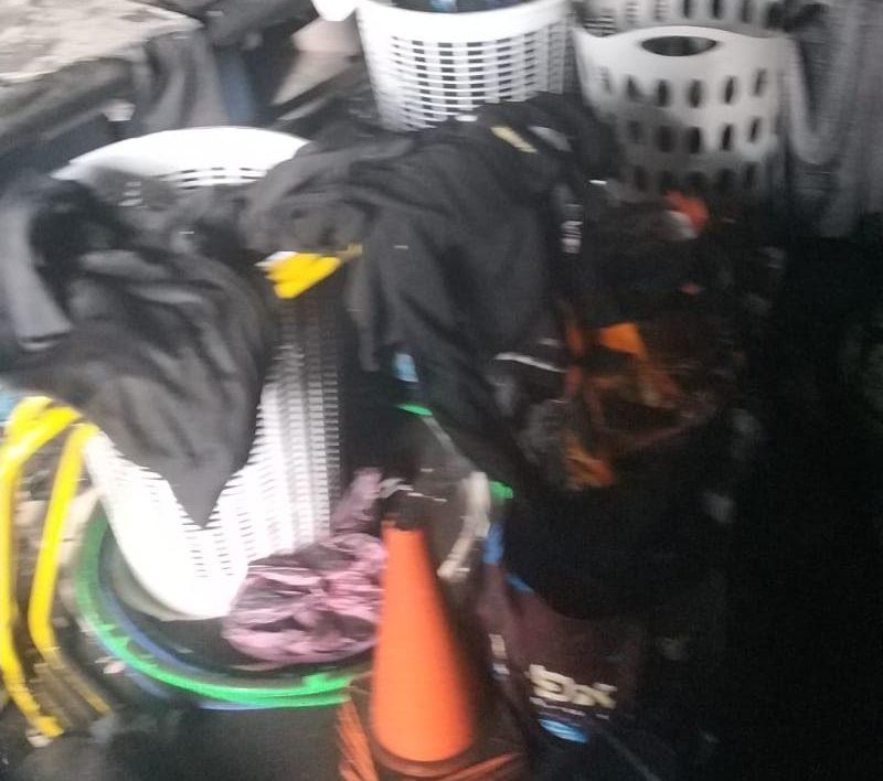 """המועדון של קבוצת בית""""ר אשדוד נשרף בעקבות קצר במזגן. צילום: יוסי כנפו"""