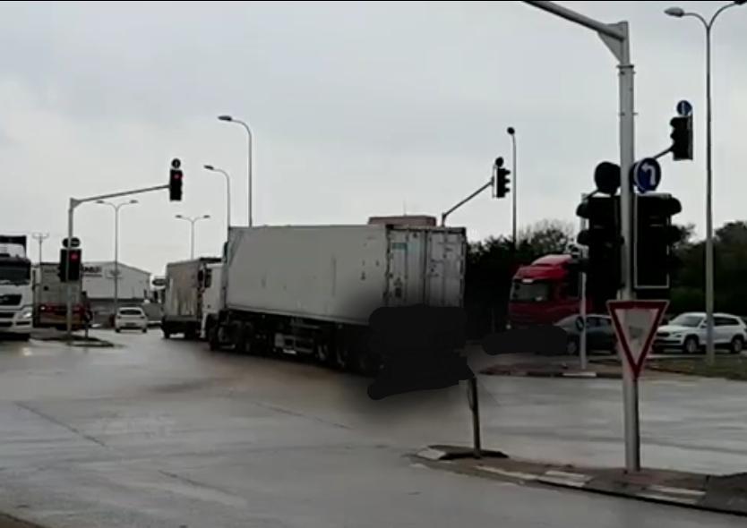 צומת הנמל בכניסה הצפונית לאשדוד. צילום: דוברות המשטרה