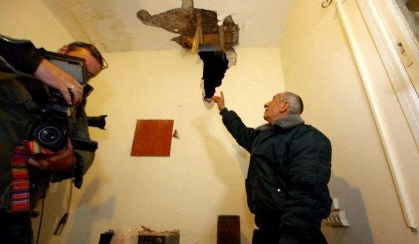 הבית שנפגע מרקטה בשדרות. צילום: אליהו הרשקוביץ