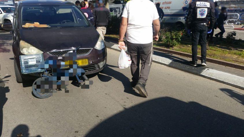 אופניו של הילד שנפצע. צילום: דוברות איחוד הצלה