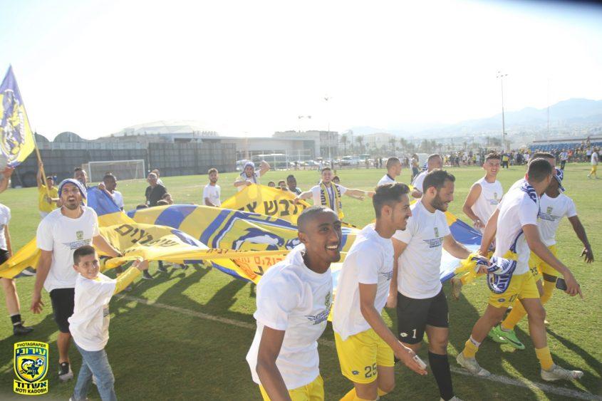 הקפת האליפות של הצהובים. צילום: מוטי קדוש
