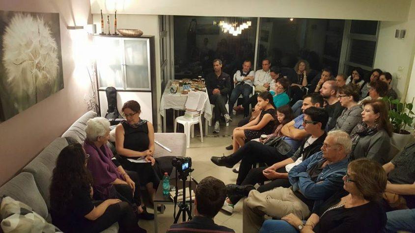 """מפגש במסגרת """"זיכרון בסלון"""" באשדוד לפני שנה"""