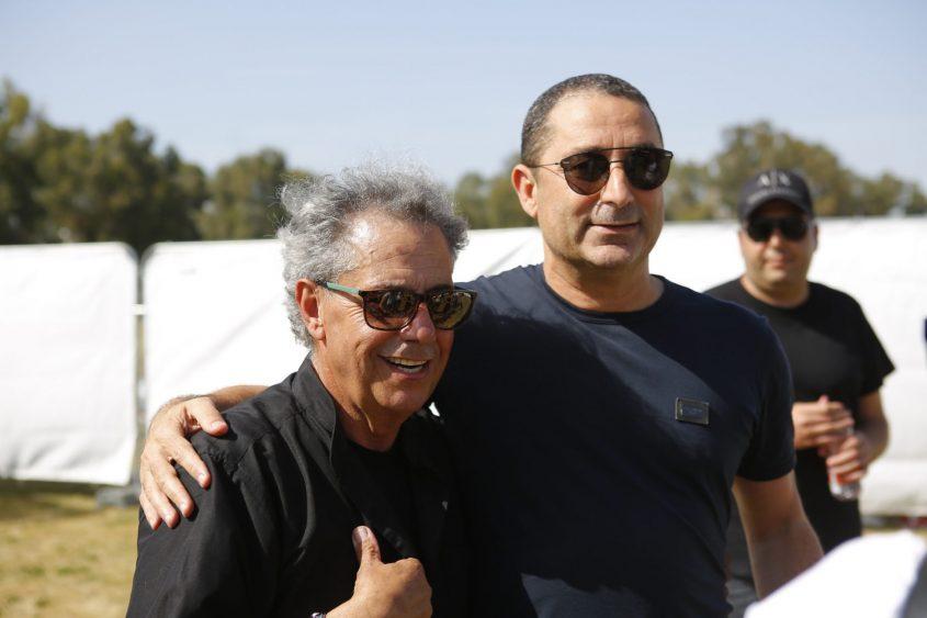 חיים זריהן וג׳קי בן-זקן בחגיגות המימונה. צילום: פבל
