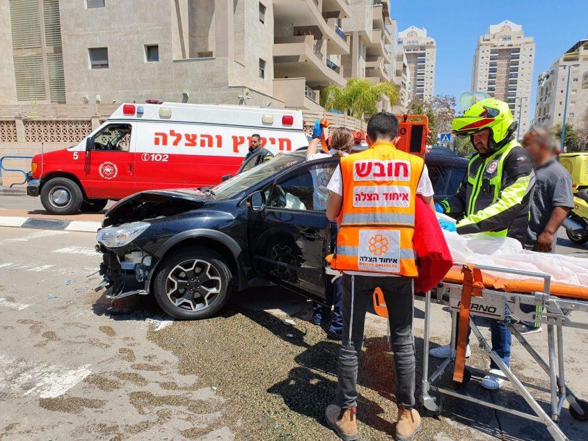 """תאונה ברובע י""""ב. צילום: דוברות איחוד הצלה"""