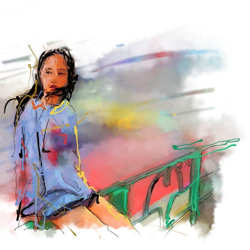תמונת האלבום של סמדר שרת שצייר איש גורדון