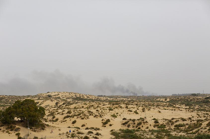 שריפת קוצים ענקית סמוך למושב בית עזרא. צילום: פבל