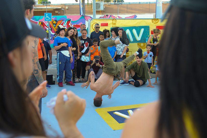 תחרות ברייקדאנס בפסטיבל VAV באשדוד. צילום: דביר בן-אריה