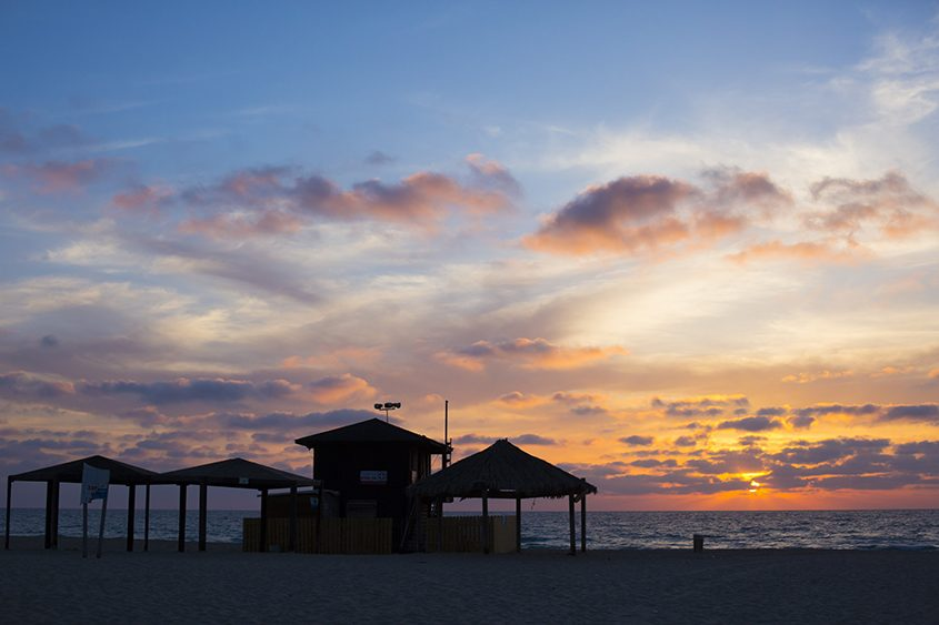 שקיעה בחוף ניצנים. צילום: פבל