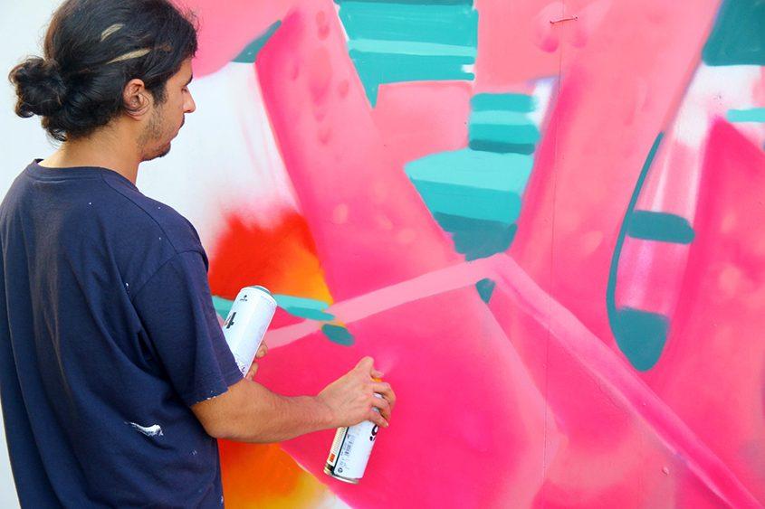 תחרות גרפיטי בפסטיבל VAV באשדוד. צילום: דביר בן-אריה