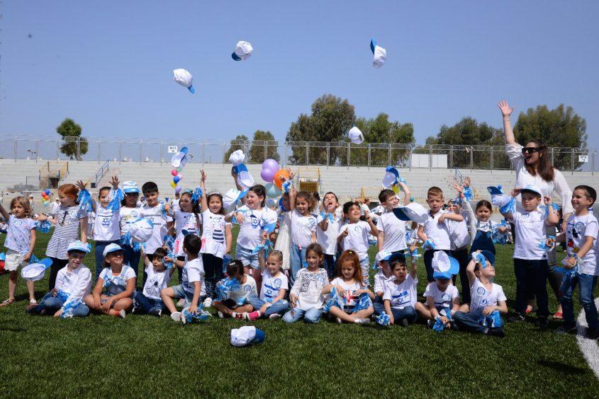 ילדי הגנים באשדוד חוגגים עצמאות צילום: רונן נג'אתי