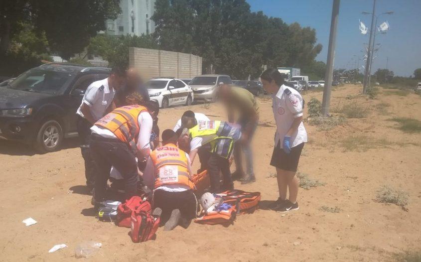 שדרות משה סנה באשדוד ילדה בת 11 נפצעה קשה