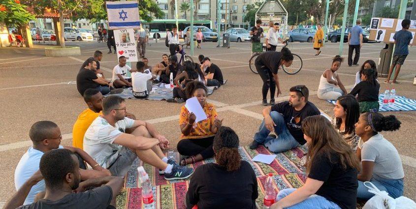 מחאת יוצאי אתיופיה מפגש ברובע ו'