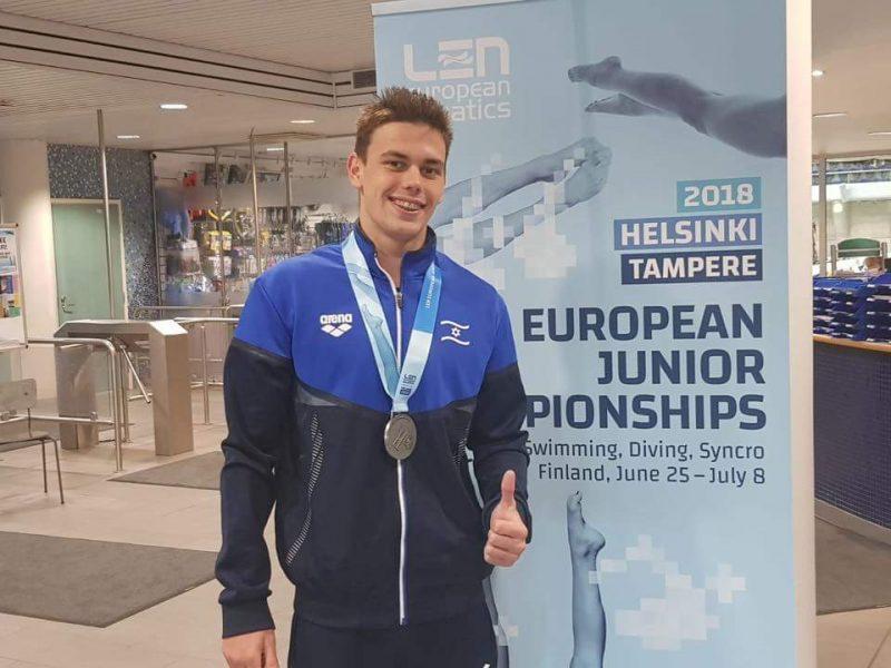 דניס לוקטב באליפות אירופה. תמונה: באדיבות איגוד השחיה של ישראל