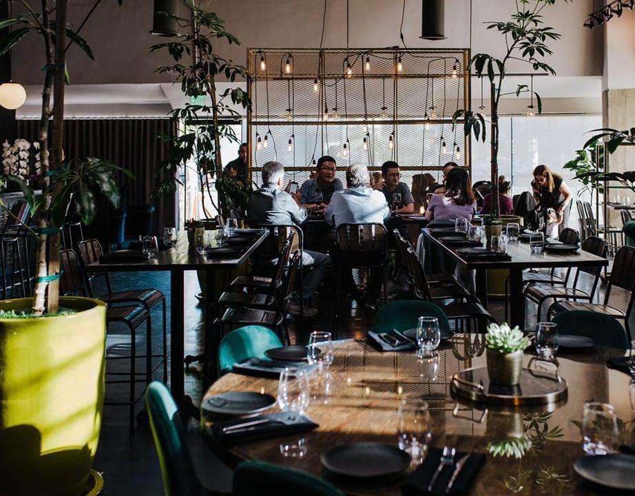 מסעדת שף בלוס אנג'לס בעיצוב של סלי צ'פרק. צילום: Kinsey v photography, Los Angeles