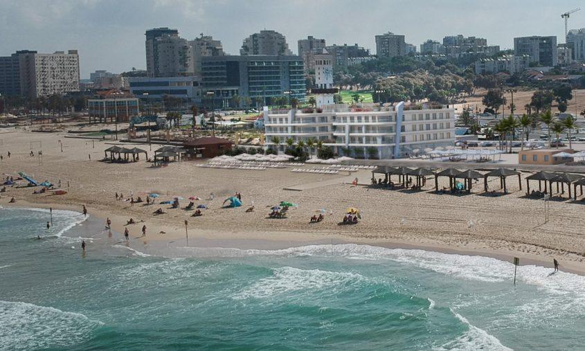 """אחד המלונות המתוכננים בחוף לידו. לפי ההצהרות הקודמות רשת הילטון אמורה להפעיל ולנהל אותו וגם מלון נוסף סמוך אליו. ההדמיות באדיבות קבוצת """"אופק השקעות"""""""