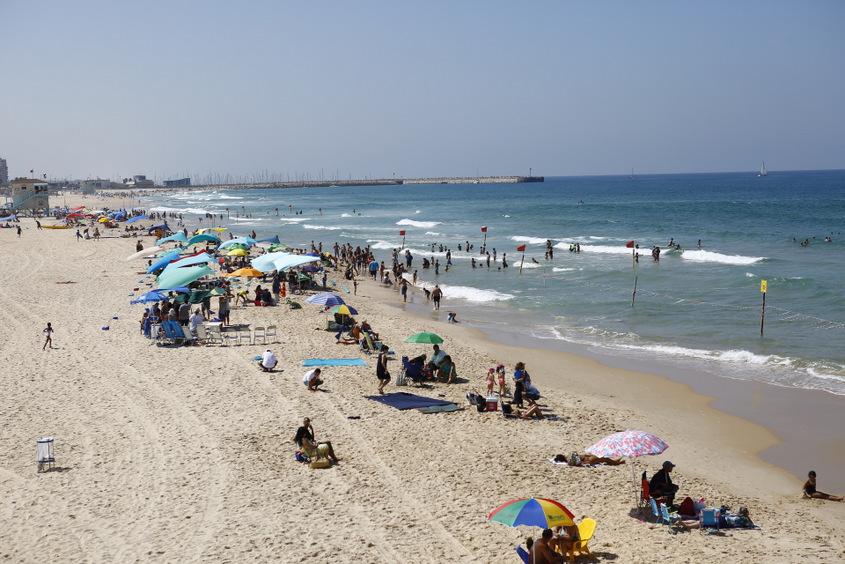 יום בחירות 2019, חוף הים אשדוד. צילום: פבל