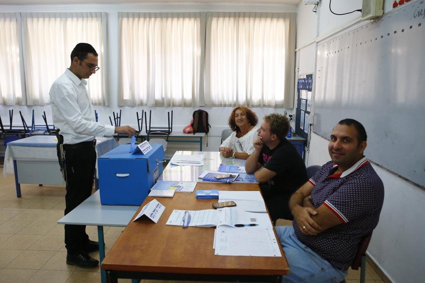 קלפי בחירות 2019 בבית ספר הקריה אשדוד. צילום: פבל