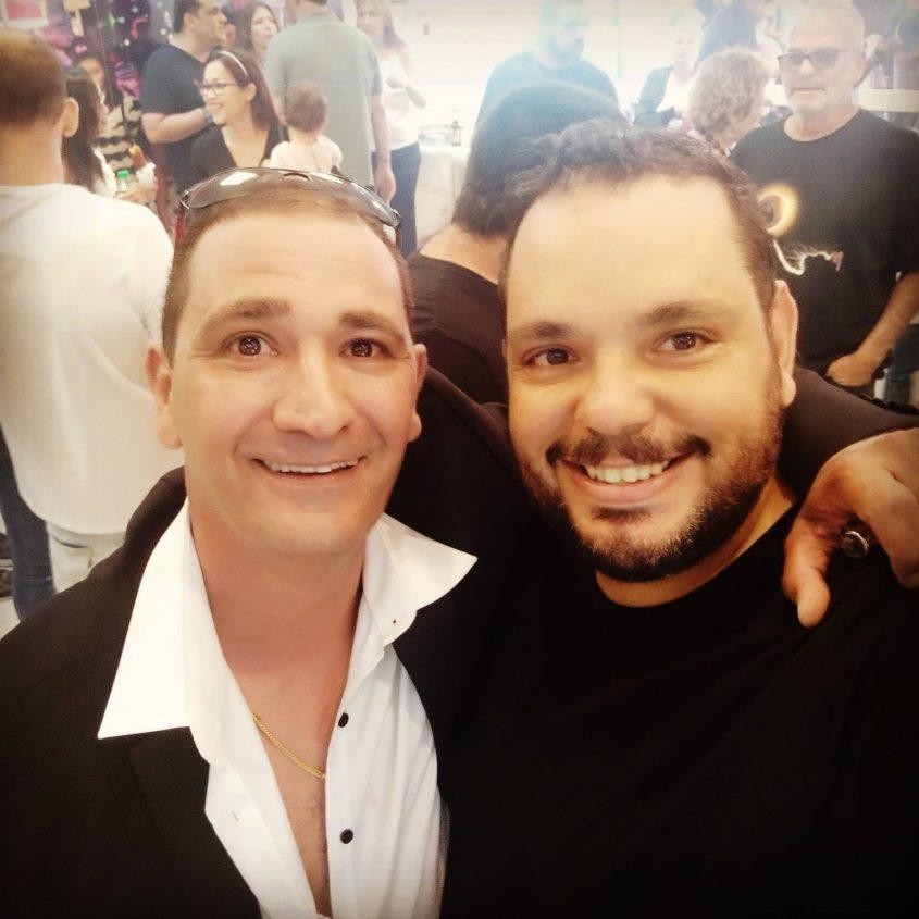 מאיר אברג׳יל עם אבי. צילום: מאיר אברג׳יל