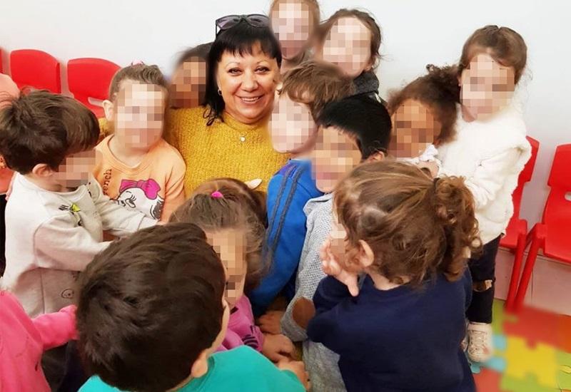 נטליה פודים-קודל עם הילדים, גן זמיר. צילום עצמי
