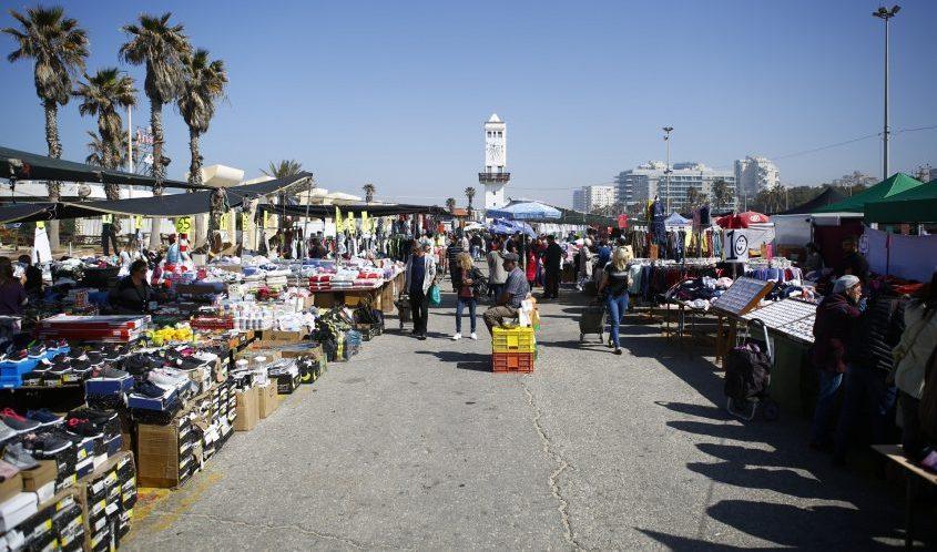 שוק ים באשדוד בימים כתיקונם. צילום: פבל