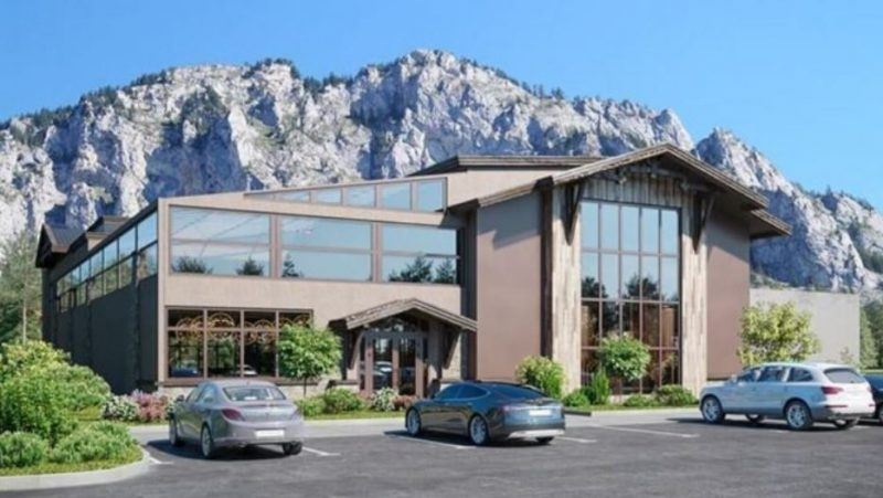 """הדמיה אדריכלית למסעדה ונוף עוצר נשימה בארה""""ב. קרדיט: טריפל די הדמיות"""