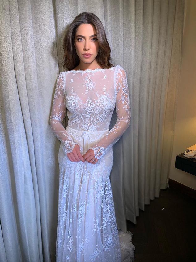 דניאל גרינבגר בשמלה של ענבל דרור. צילום: ששון משה