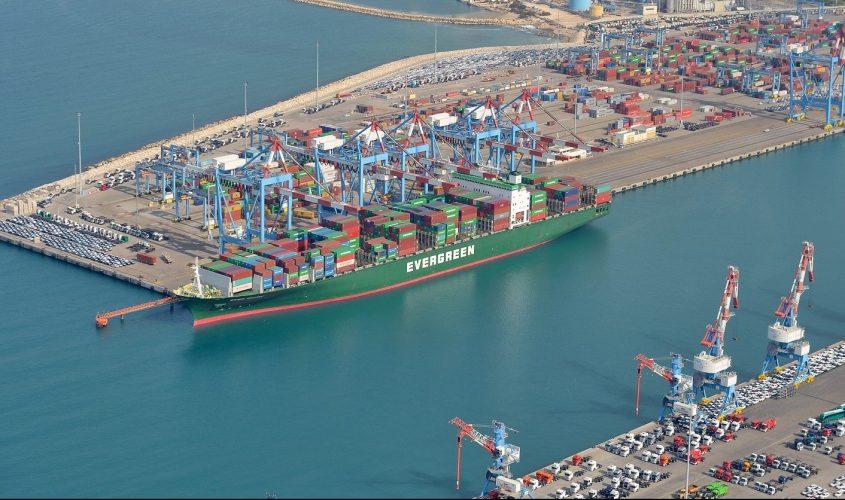 נמל אשדוד מלמעלה. צילום: דוברות נמל אשדוד