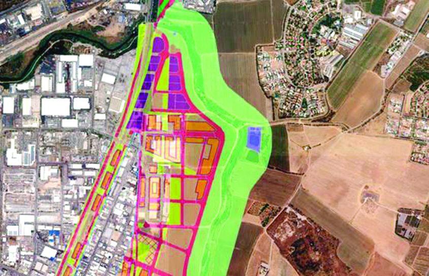 """תכנית """"גדות הנחל"""" מתוך מסמכי התכנית: מימים למעלה ניר גלים, במרכז ערוץ נחל לכיש"""