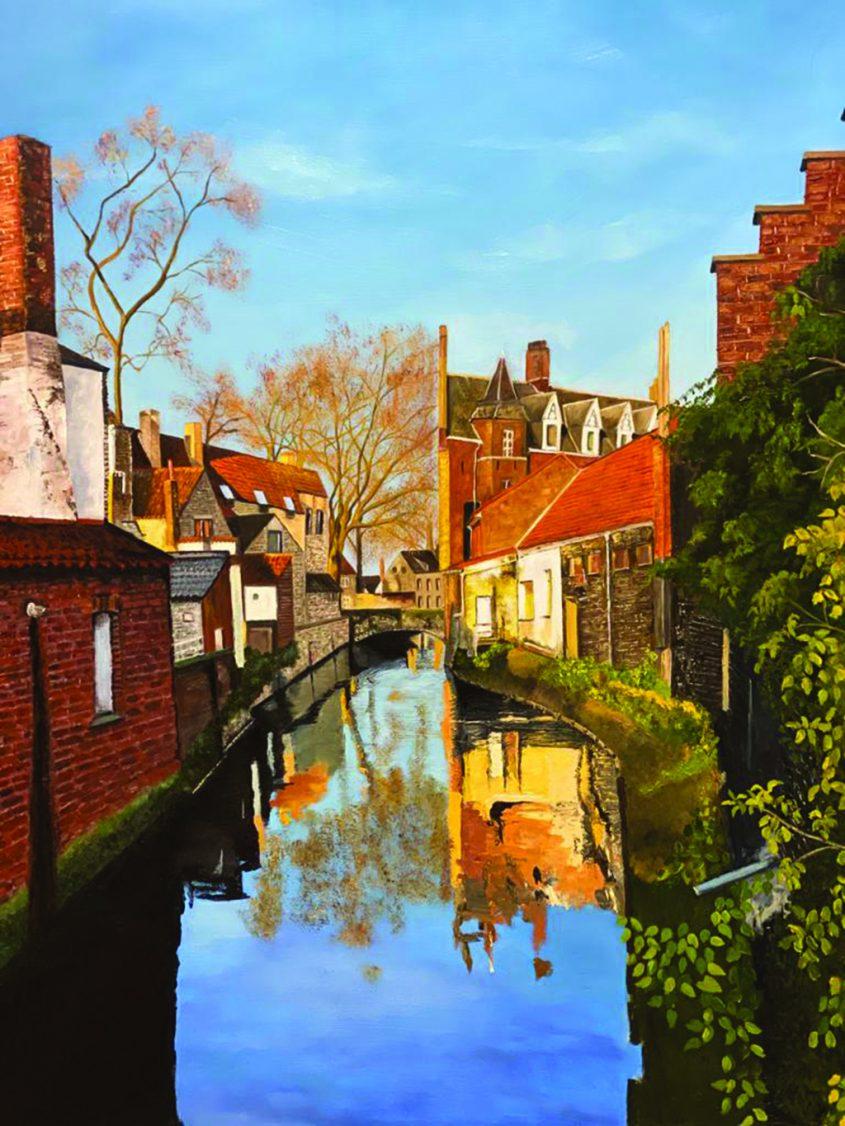 ברוז', ציור בצבעי שמן של מירי גרינבאום