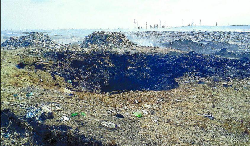 אתר הפסולת רתמים מצפון לאשדוד. צילום: גדעון מזור המשרד להגנת הסביבה