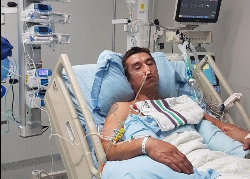 אלכנסדר אומלצ'נקו בבית החולים. התמונה באדיבות המשפחה
