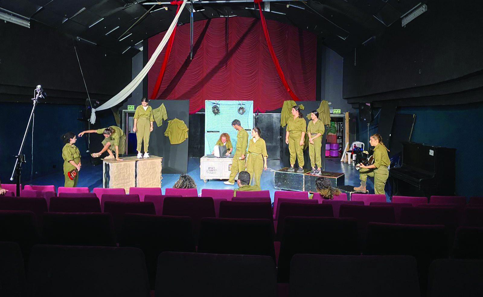 """ללא קהל: ההצגה """"הלהקה"""" בבימויה של מירב אלבז אלטחן. צילום: מירב אלבז אלטחן"""