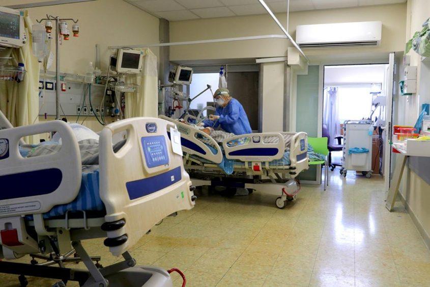 מחלקת קורונה בבית חולים קפלן ברחובות צילום: המרכז הרפואי קפלן