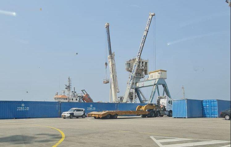 מקום האסון בנמל אשדוד