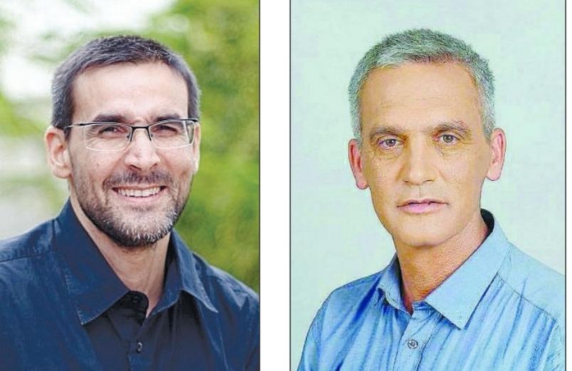 """חילופי האשמות: יו""""ר הפורום הציבורי באשדוד בועז רענן ומהנדס העיר דורון חזן. צילומים מהאלבום הפרטי"""