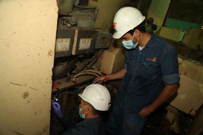 עבודות שיפוץ בתחנת הכוח אשכול באשדוד. צילום: יוסי וייס, חברת החשמל