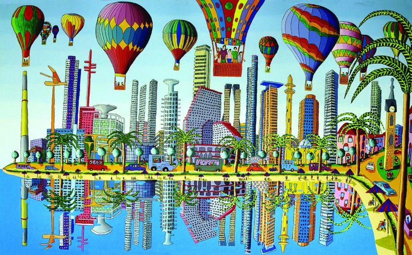 ציור של תל אביב מאת רפי פרץ