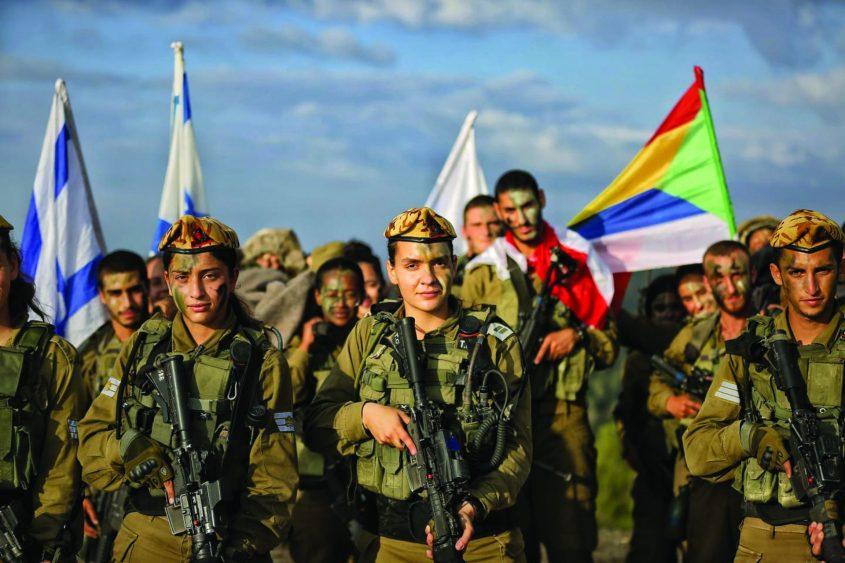 לוחמות לצד לחומים מתוך מסע יחידות חיר גבולות בהר איתן צילום יגאל סלבין