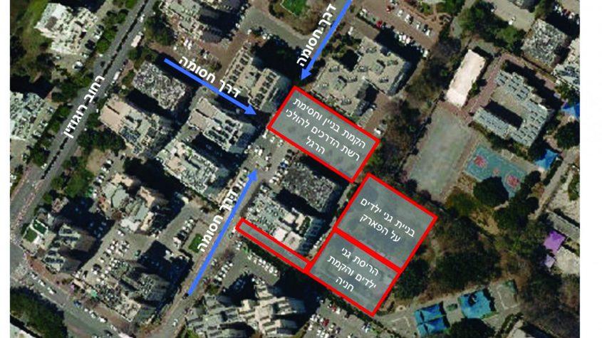 שטח התכנית, תצלום אוויר מפות גוגל google
