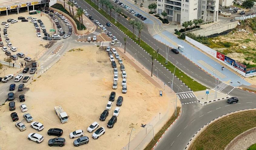 מתחם הבדיקות. צילום: עיריית אשדוד