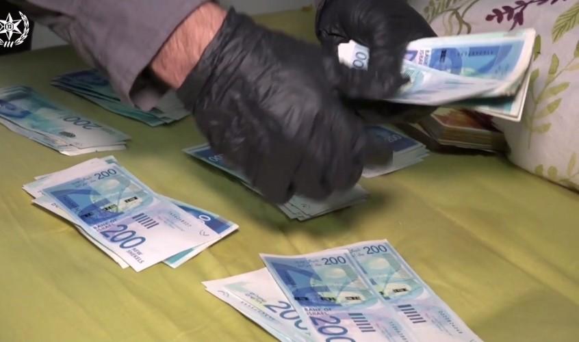 כסף מזומן שנתפס
