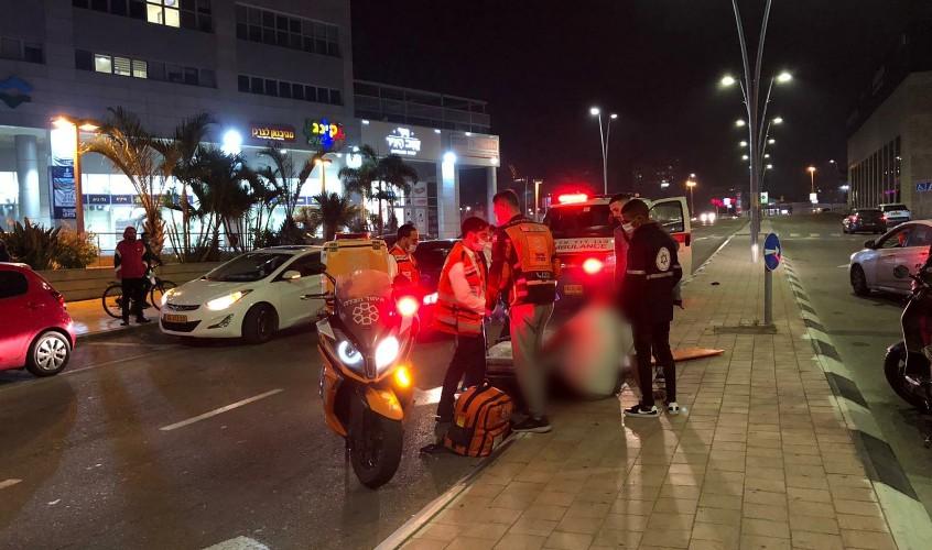 """זירת התאונה ברחוב צה""""ל. צילום; דוברות איחוד הצלה"""