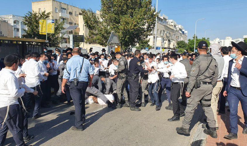 המהומות ברובע ג. צילום: דוברות המשטרה