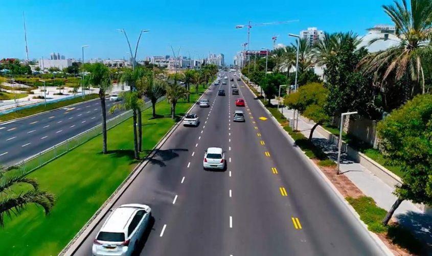 שדרות מנחם בגין. צילום: עיריית אשדוד