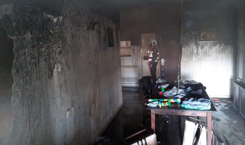 נזקי השריפה. צילום: תיעוד מבצעי כבאות והצלה